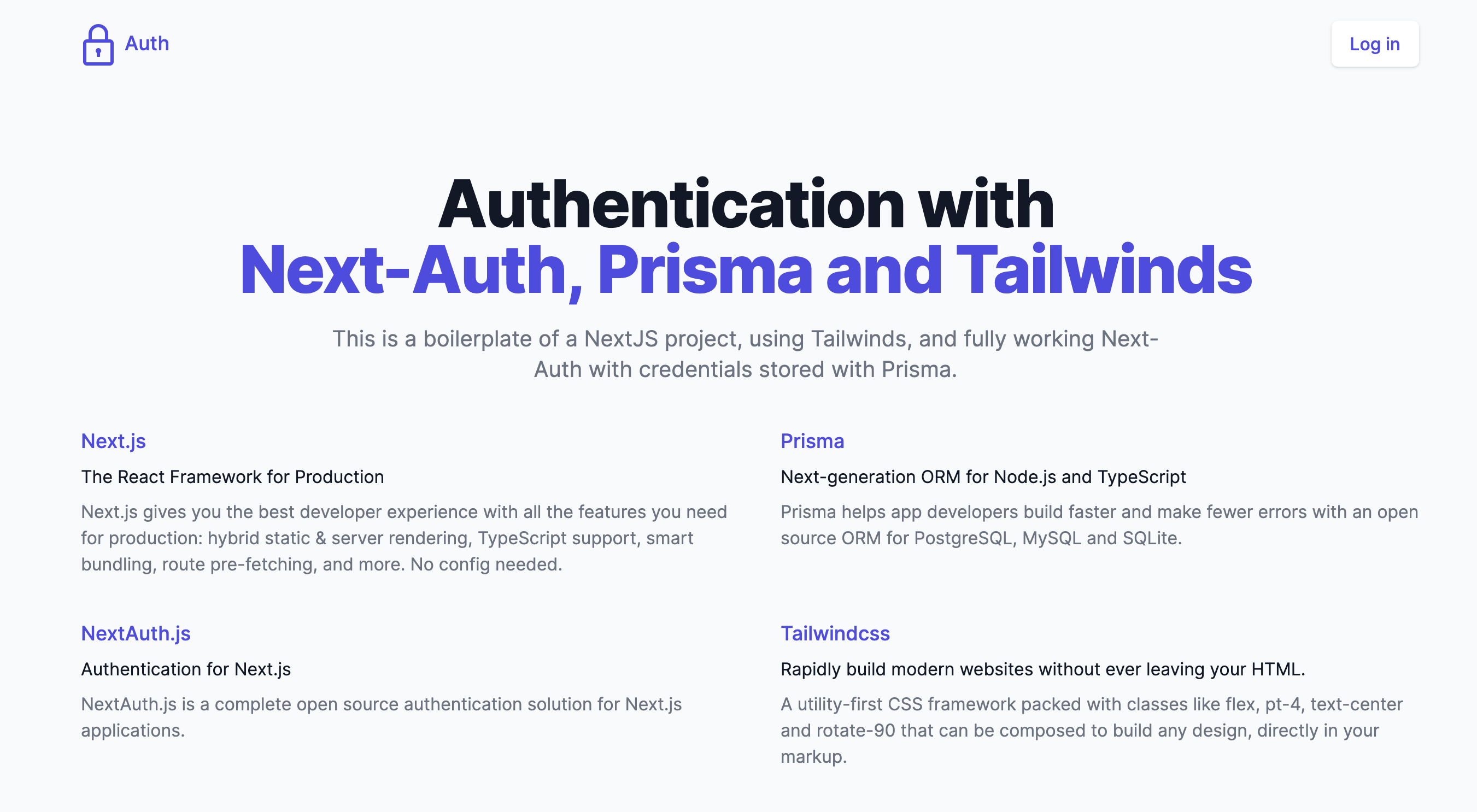 Full Auth with NextAuth, Prisma, and Tailwindcss